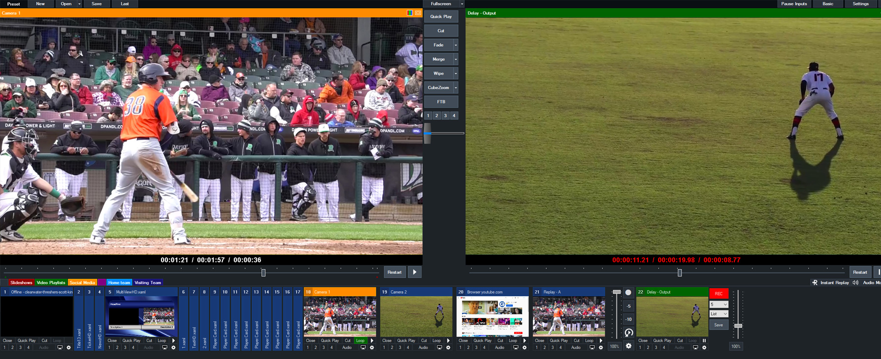<h2>Video Delay / Instant Replay</h2>