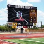 Sam's Stadium New LED Scoreboard installed by Formetco