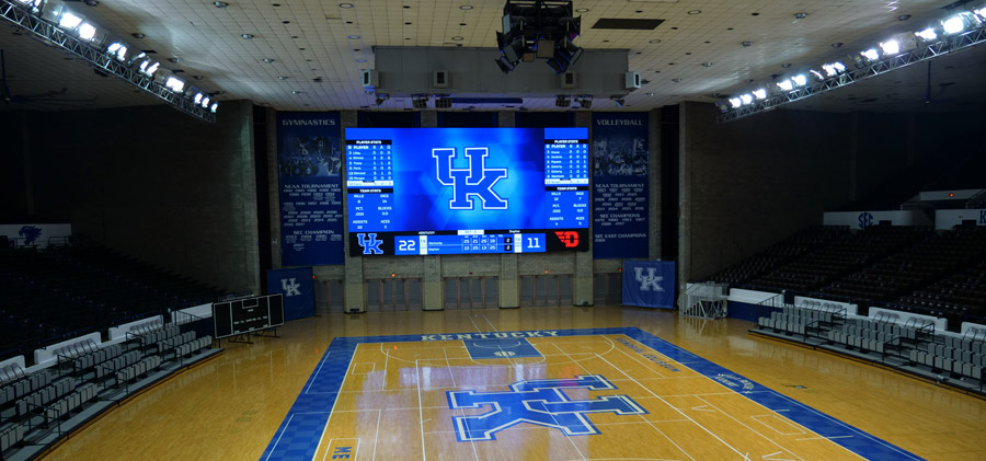 University of Kentucky LED video scoreboard