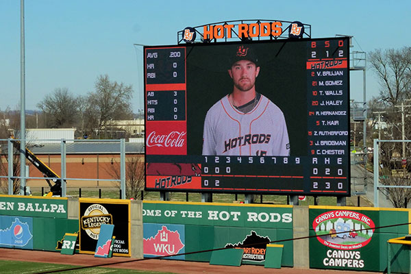 Bowling Green Hot Rods Baseball LED Scoreboard