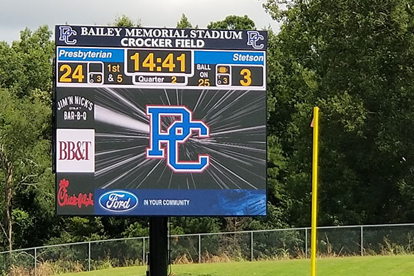 LED Football Scoreboard Exterior
